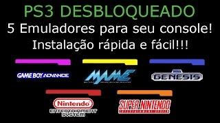 PS3 DESBLOQUEADO. 5 EMULADORES com MAIS de 300 jogos para seu console. INSTALOU, JOGOU !!!