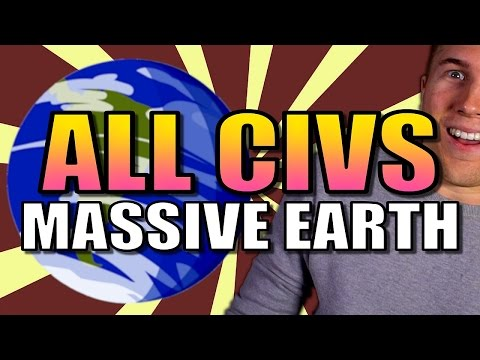 ALL 24 CIVS ON MASSIVE EARTH!! | Civilization 6 Gameplay [Civ 6 AI Only Deity] - Part 1