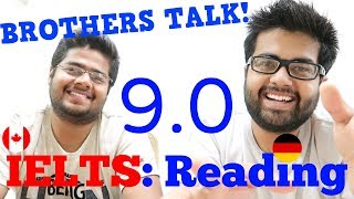 IELTS Reading 9.0 Band: Brothers Talk