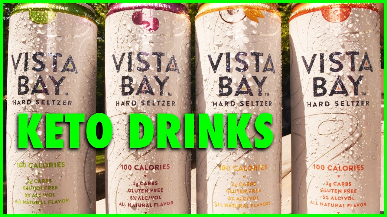 Vista Bay Hard Seltzer from Aldi - Taste test and Review - Keto drinks