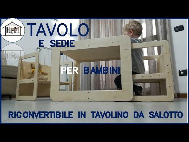 Tavolo E Sedie Per Bambini In Stile Montessori Youtube