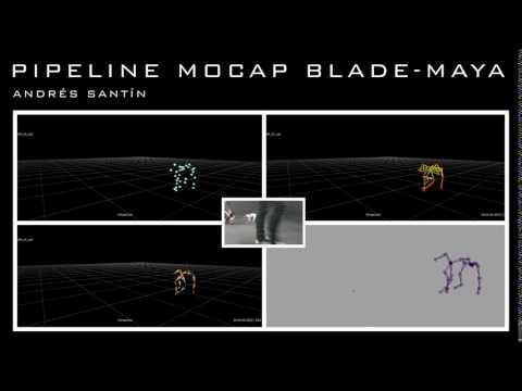 Mocap quadruped pipeline blade maya - YouTube