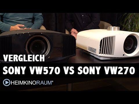 4K Beamer Vergleich: Sony VPL-VW570ES und VW270ES