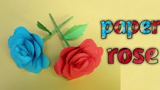 How to make paper flower    paper craft origami    easy & smart creation