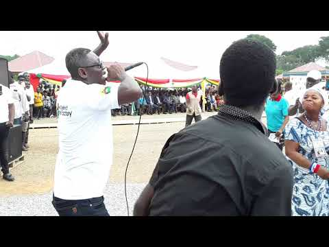 Agya Koo performs at 1 District, 1 Factory launch