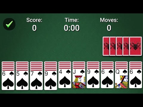 Spider Solitaire Live || Record Short Time || Less Move's