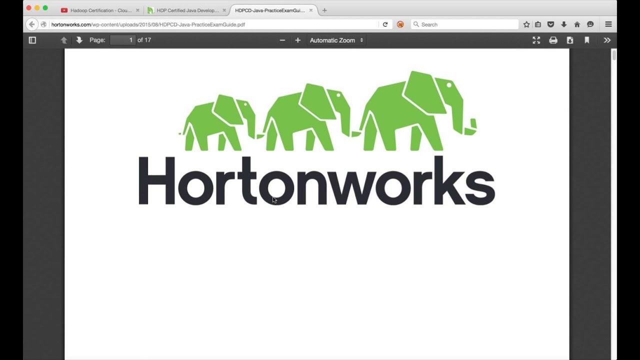 Hadoop Certification Hdpcdjava Introduction Youtube