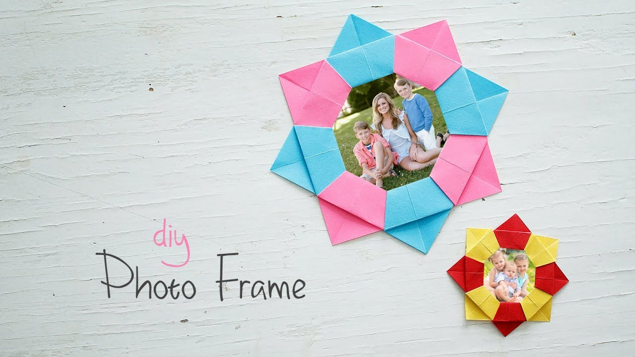 DIY Paper Photo Frame - YouTube