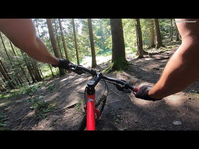 Aventuri pe bicicleta : Coborare de final in Masivul Ceahlau