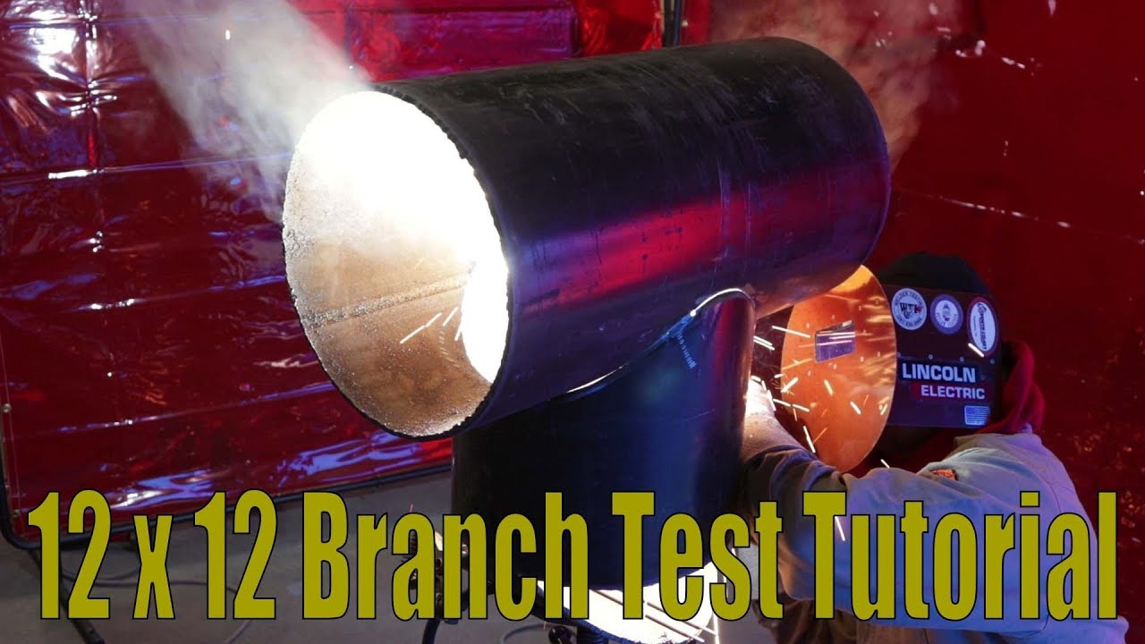 how to fit and weld a 12x12 branch test tutorial