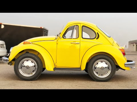 They Photoshopped a VW Beetle in REAL LIFE!