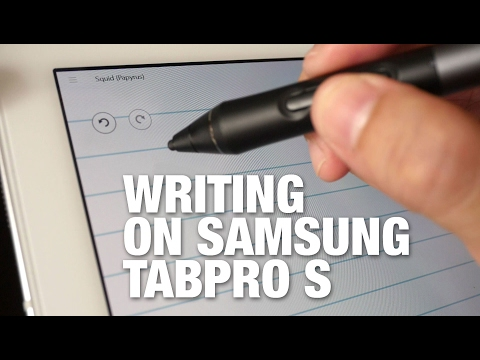 Samsung TabPro S Handwriting & Note Taking Demo