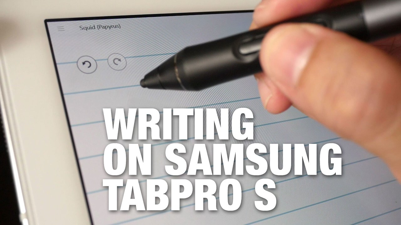 Samsung tabpro s handwriting note taking demo youtube