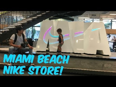 Encantador Atar el centro comercial  The Miami Beach Nike Store is LEGIT! (Vlog #29) - YouTube