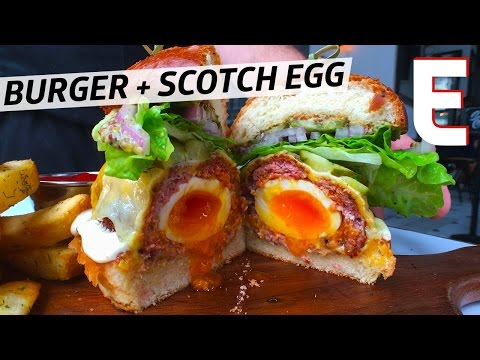 Try an Oozy Egg INSIDE Your Burger at Downtown Los Angeles' Ledlow — Snack Break