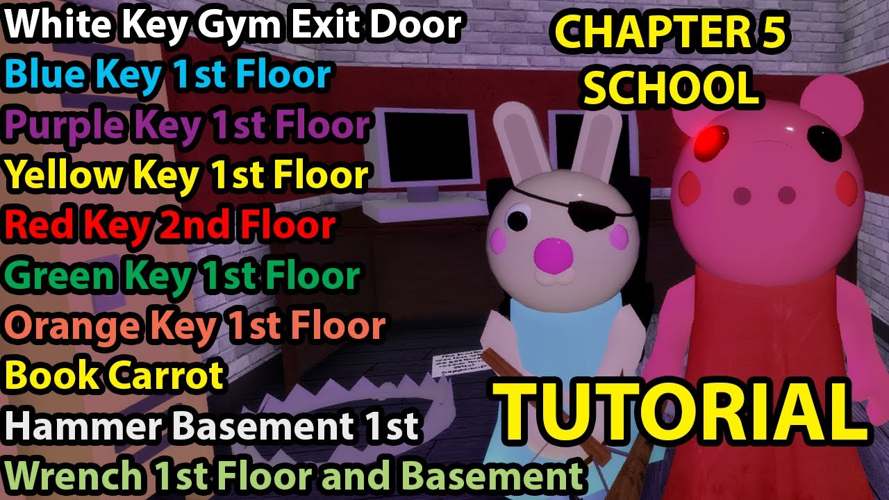 Roblox Piggy Chapter 5 School Tutorial How To Escape 1234 All