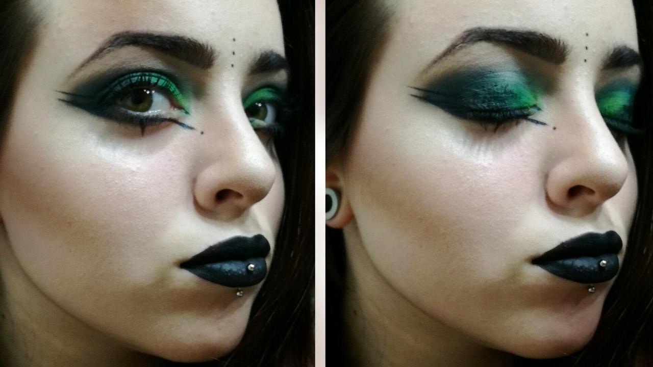 Grwm Green Goth Makeup Youtube