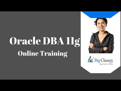Oracle DBA 11g Training Tutorial - Oracle DBA Training Videos - BigClasses