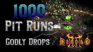 1000 Pits Runs - Godly Finds with the Pitzerker - Diablo 2
