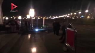 بالفيديو| وزير الثقافة يقدم واجب العزاء في وفاة زوجة محمد صبحي