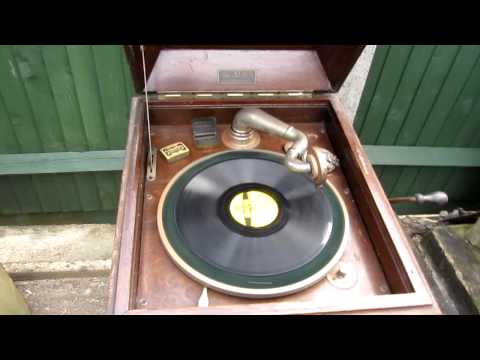 "A 78 RPM record of Hank Williams,s ""Your cheating heart "" played on a Gramophone"