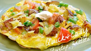 Easy Potato & Chicken Breakfast Frittata