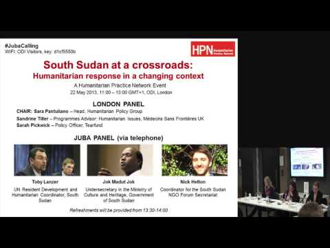 Toby Lanzer - South Sudan at a crossroads: humanitarian response in a changing context