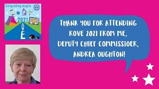 Thank you for attending ROVE 2021 - Andrea Oughton closing video