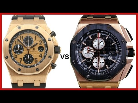 ▶ Audemars Piguet Royal Oak Offshore Rose Gold: 42mm Champagne vs. 44mm Black - COMPARISON