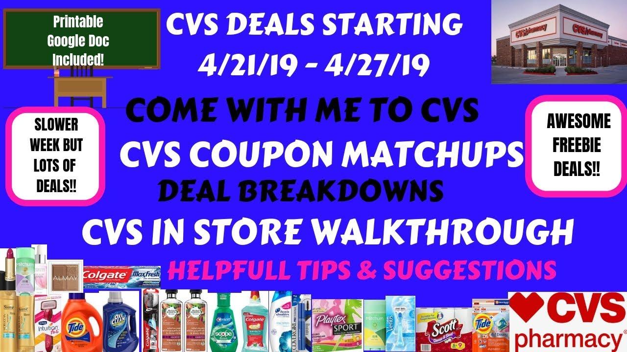 Free Cheap Cvs Deals Starting 4 21 19 Cvs In Store Walkthrough Coupon Matchups Come With Me To Cvs