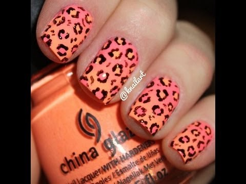 Diy cute neon ombre nails with leopard print no tools needed diy cute neon ombre nails with leopard print no tools needed very very cute and easy nail art prinsesfo Choice Image