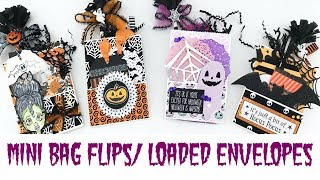 Mini Bag Flips/Loaded Envelopes | Halloween Mail Series 2017 Episode #2 | Serena Bee Creative