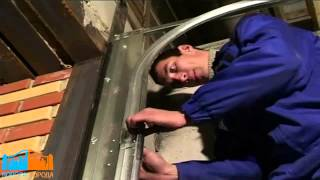 Монтаж гаражных секционных ворот DoorHan часть 1 RSD 02