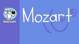 Draw Mozart Using His Name  ( Wordtoon Mozart )