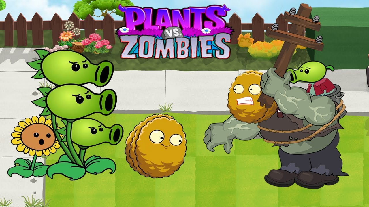 Plants Vs Zombies GW Animation Episode 71 : Threepeater vs Wall-nut Gargantuar