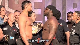 IM THE JUGGERNAUT! JOE JOYCE ECLIPSES BERMANE STIVERNE IN SIZE DURING FACE OFF WEIGH IN!