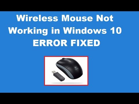 How To Fix Wireless Mouse Not Working In Windows 10