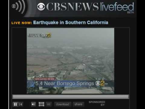(BULLETIN) Breaking News - 5.4 Earthquake Shakes Southern California Area