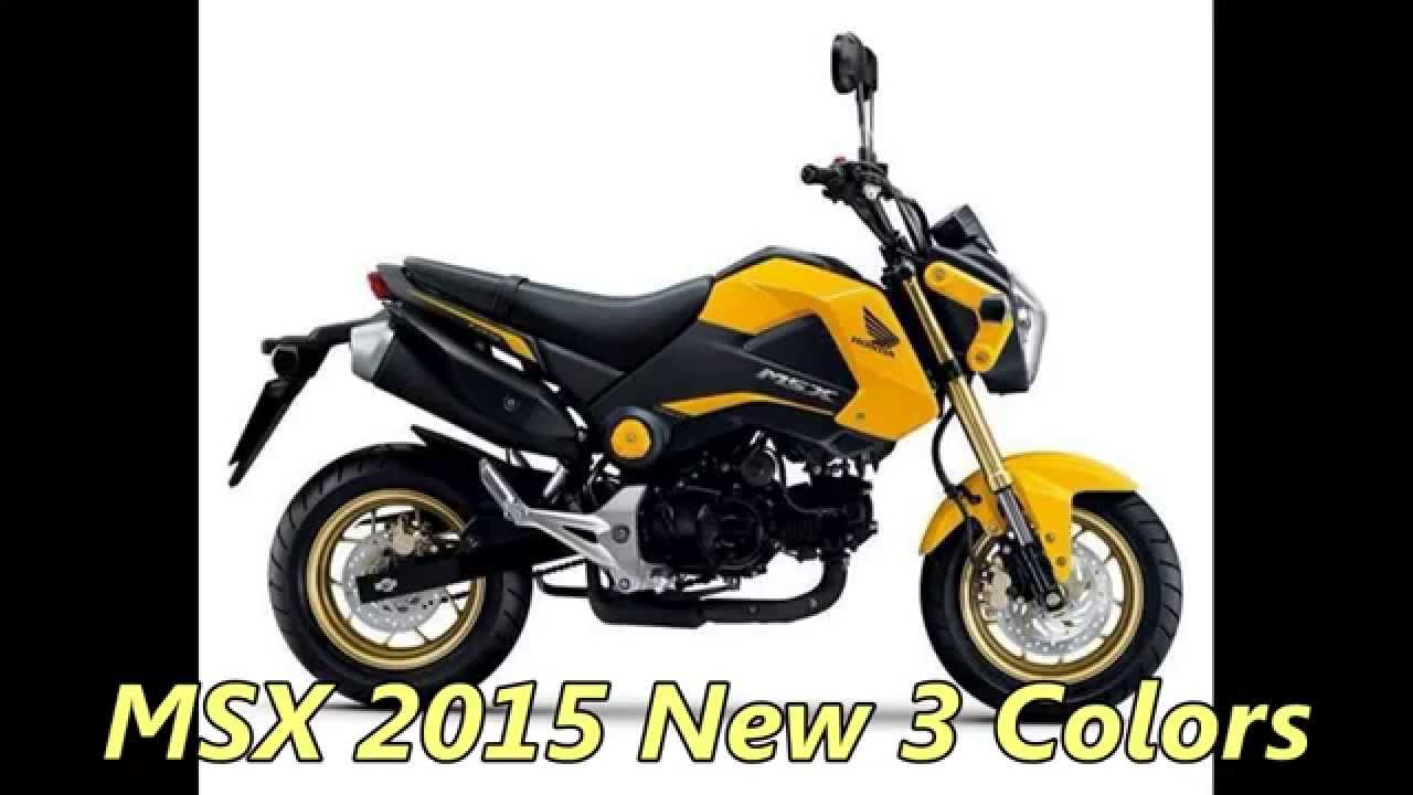 Honda Msx 125 Review >> Honda MSX 125 New 2015 Colors 3 Review KS - YouTube
