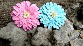 Tutorial fiore di dalia di carta, idea regalo festa della donna o della mamma,decorazione primavera