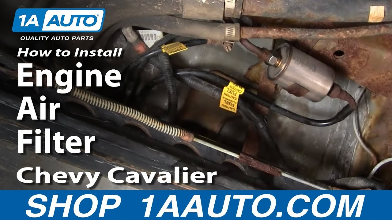 1997 Chevy Cavalier Engine Diagram How To Install Replace Service Engine Air Filter Chevy