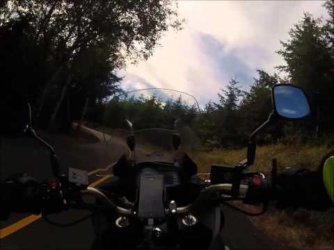 Oregon Hwy 202 - 2013 Suzuki V-Strom 650 Gopro Hero 2