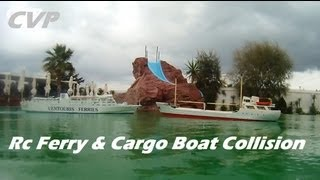 CVP - Rc Cargo and Ferry ship Collision - News Story