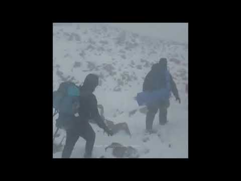 Scottish Highland Walkers Battle Snow, Wind And -15c Temperatures - On May 4