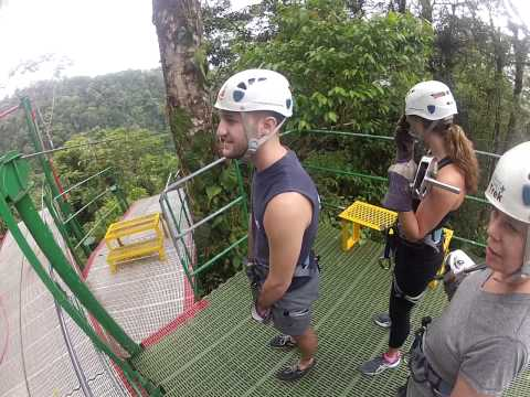 Anant Ziplining at Arenal Rain Forest Costa Rica - Cable 3 - Highest (656 ft) and 1550 ft long