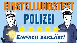 Einstellungstest Polizei: Einfach erklärt im Testtrainer Video!