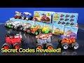 Secret Codes Revealed! Hot Wheels Monster Trucks Mystery Trucks Series 1
