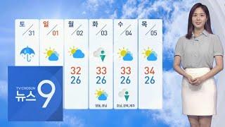 소나기도 못 꺾는 폭염…토요일 전국 비 소식  [뉴스 9]