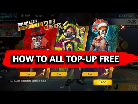 How to get free new events & joseph character Top Up only 1 Diamond💎 in  Free Fire