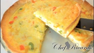 Vegetarian Quiche Recipes From Chef Ricardo Cooking
